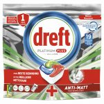 Dreft Platinum Plus All In One Vaatwastabletten Cool Blue 19 stuks
