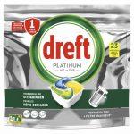 Dreft Platinum All In One Vaatwascapsules Lemon 23 stuks