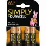 Duracell Simply AA 4 stuks