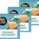 Nescafé Dolce Gusto capsules Coconut Macchiato - vegan koffie - 36 koffiecups - geschikt voor 36 koppen koffie