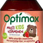 Optimax Kinder Multi Aardbei - Voedingssupplement - 90 kauwtabletten