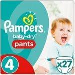 Pampers Broekjes Baby Dry Pants Maat-4 Maxi 8-14kg 27-Luiers 27stuks