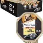 Sheba Mini Filets in Saus Kuipje - Kip & Kalkoen - Kattenvoer - 22 x 85g