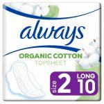 Always Maandverband Bio Cotton Protection Ultra Long met Vleugels 10 stuks