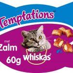 Whiskas Temptations Zalm - Kattensnack - 8 doosjes à 60g